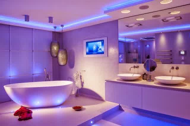 Bathroom Lighting Blue